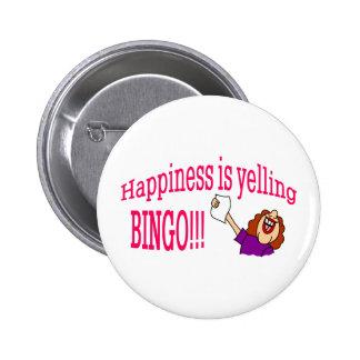 Happiness Bingo Pinback Button
