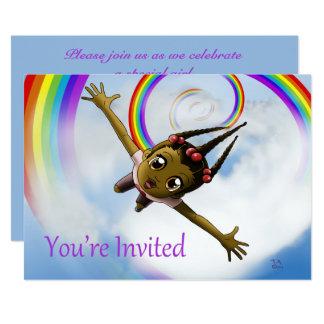"""Happiness Birthday Invitation"" 7"" x 5"" Cards"