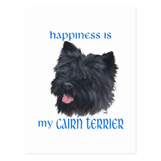 Happiness Black Cairn Terrier Post Card