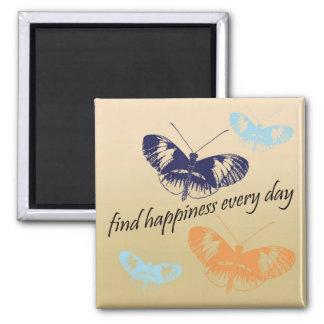 Happiness Butterflies Magnet