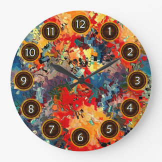 Happiness by rafi talby large clock