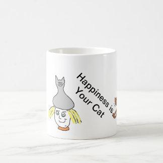 Happiness Cat Mug