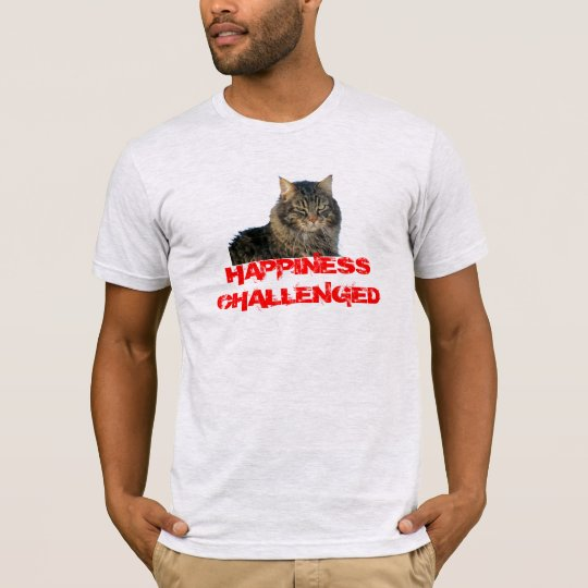 Happiness Challenged Grumpy Kitty T-Shirt