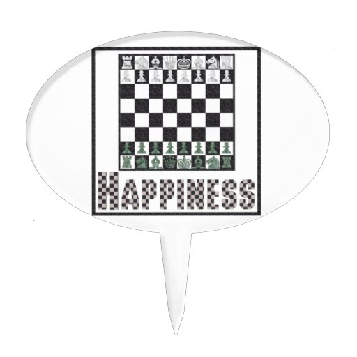 Happiness: Chess Cake Topper