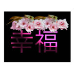 Happiness-Chinese Characters Postcard