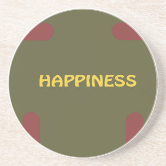 Happiness Christmas Sponap Connect Through Love Beverage Coasters