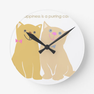 Happiness Round Wall Clocks