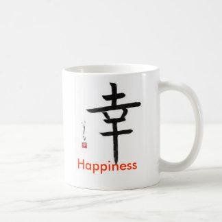 Happiness coffee mug :-) -- Japanese character