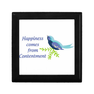 Happiness Comes From Gift Box