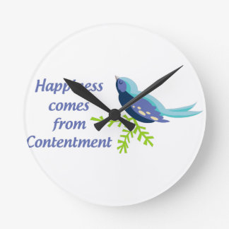 Happiness Comes From Round Clock