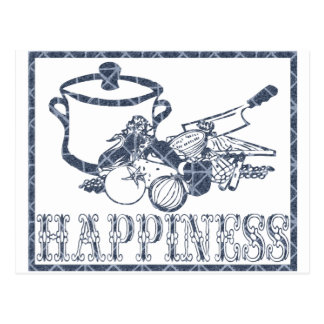 Happiness: Cooking Postcard