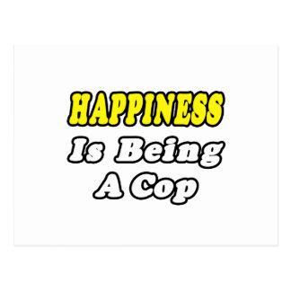 Happiness...Cop Postcard