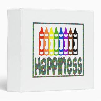 Happiness: Crayons 3 Ring Binder