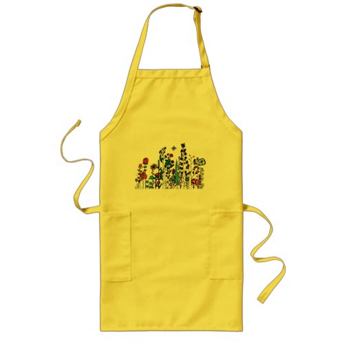 Happiness created by Ruxandra Carter Long Apron