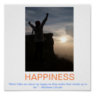 HAPPINESS demotivational poster