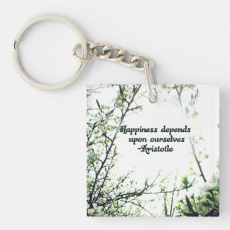 Happiness Depends Upon Ourselves - Aristotle Keychain