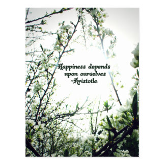 Happiness Depends Upon Ourselves - Aristotle Post Card