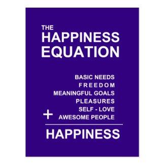 Happiness Equation postcard