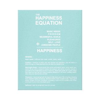 Happiness Equation Canvas Prints