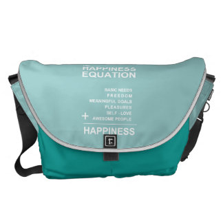 Happiness Equation Messenger Bags