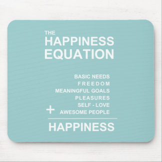 Happiness Equation Mouse Pad