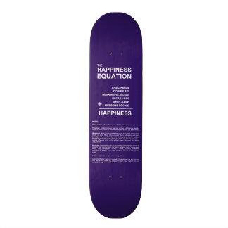 Happiness Equation Skateboard Deck