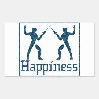 Happiness: Fencing Rectangular Sticker