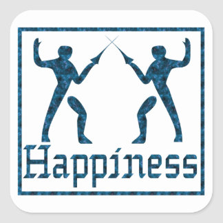 Happiness: Fencing Square Sticker