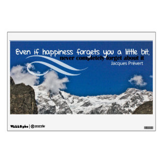 Happiness Forgets Custom Wall Decal