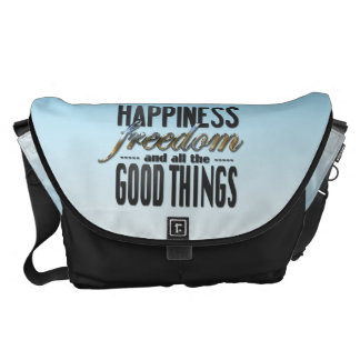 Happiness Freedom Good Things Messenger Bag