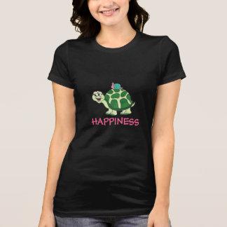 HAPPINESS Funny Turtle & Snail - T-shirt