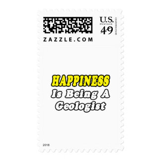 Happiness...Geologist Stamp