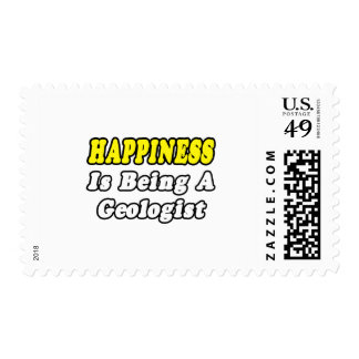 Happiness...Geologist Postage Stamp
