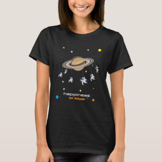 Happiness Go Round Graphic Space T-shirt