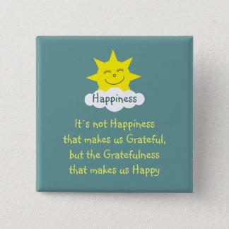 Happiness & Gratitude sun badge Button