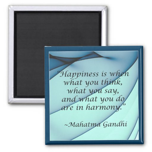 Happiness Harmony Gandhi Quote Magnet
