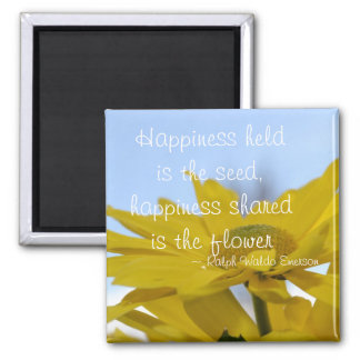 Happiness Held is the Seed 2 Inch Square Magnet