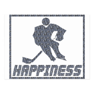 Happiness: Hockey Postcard