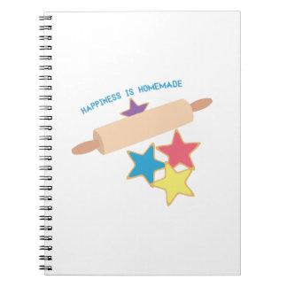 Happiness Homemade Notebook