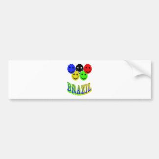 happiness in brazil bumper sticker