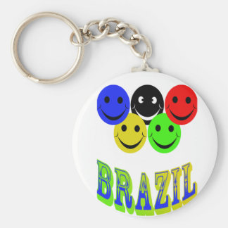 happiness in brazil key chain