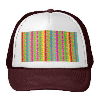 HAPPINESS in COLOR: Smiling Stripes on Golden Base Hat