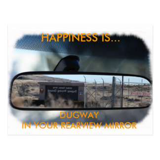 Happiness in Dugway Postcard