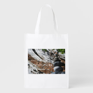Happiness in Harmony Reusable Grocery Bag