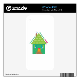 Happiness In Home Skin For The iPhone 4