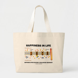 Happiness In Life Depends Upon Balanced Gradient Large Tote Bag