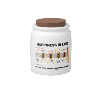 Happiness In Life Depends Upon Having Balanced Candy Jar