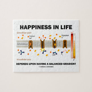 Happiness In Life Depends Upon Having Balanced Jigsaw Puzzle