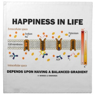 Happiness In Life Depends Upon Having Balanced Printed Napkin