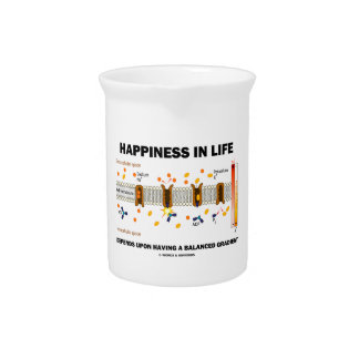 Happiness In Life Depends Upon Having Balanced Beverage Pitchers